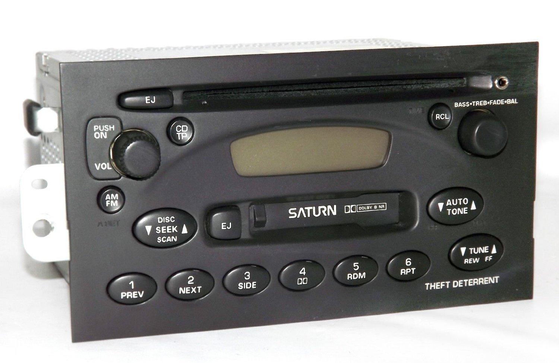 Get Quotations · Saturn 2000-05 L S Series AM FM CD Cassette Radio w Aux  iPod Input 21025077