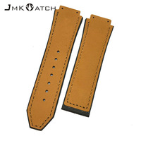 Exquisite pattern popular products blue color genuine leather watch band