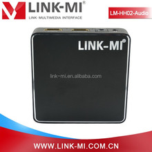 LINK-MI LM-HH02-Audio HDMI 1.4a Decoder with SPDIF + 3.5MM Audio+ARC ToslinK Analog Audio connected to the earphones