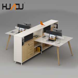 HUADU office furniture china supplier 2018 New office furniture 4 person workstation partition office table designs cubicles