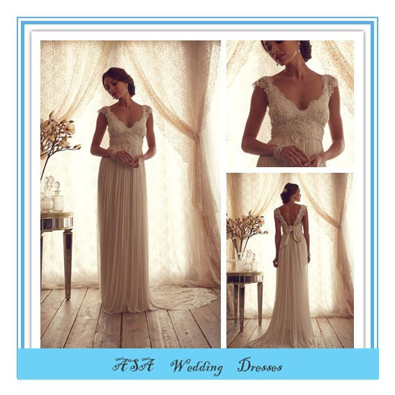 Latest Western Style Sexy Wedding Dress Beaded Wedding Bridal Gowns Chiffon Casual Beach Wedding Dresses 2015 Plus Size(AC11)