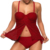 Custom Beautiful Women Sexy Plus Size Red Lace Fly Away Underwire Bathing Suit