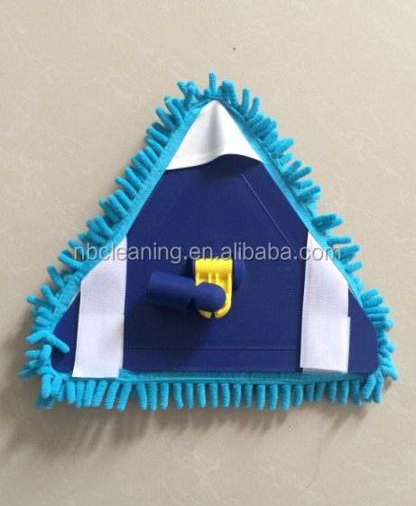 microfiber chenille triangle mop head,ceiling cleaning mop