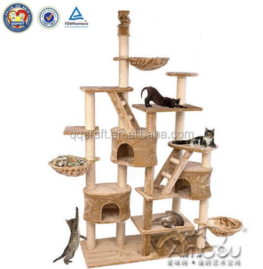 qquan luxe feuille de bananier arbre chat et arbre chat scratch et haut arbre chat jouets. Black Bedroom Furniture Sets. Home Design Ideas