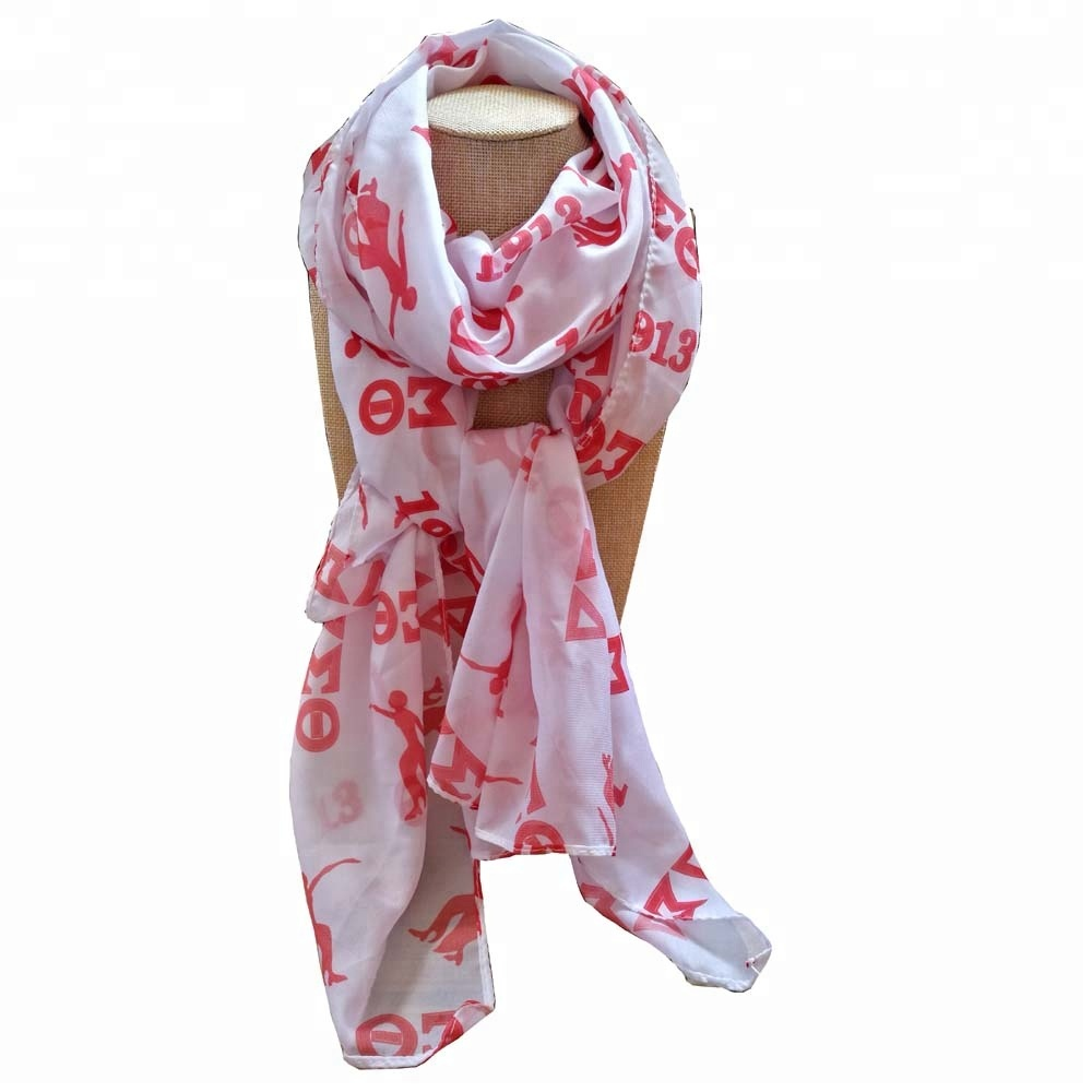 Red and White Animal Elephant Infinity Custom <strong>Scarf</strong> DST <strong>Scarf</strong> Delta Sigma Theta <strong>Scarves</strong> Inspired gift