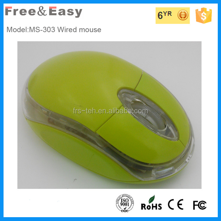 Famale style Ms 3D Optical Computer Wired Mouse For PC Laptop
