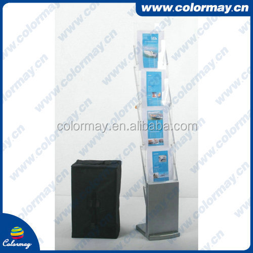 Acrylic folding literature brochure stands, brochure holder