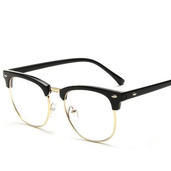 2bf8d14b5d De Metal de moda-Rim mitad gafas Retro hombres gafas de lectura protección  UV de