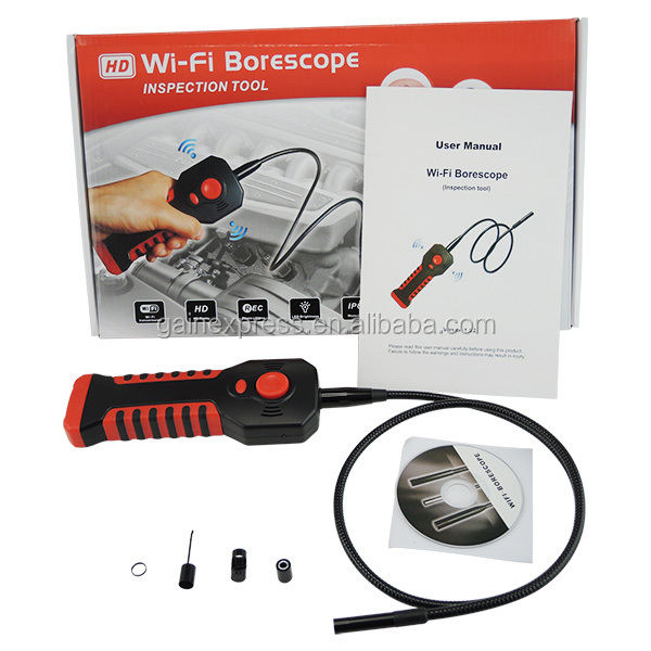 산업 8.5mm 카메라 검사 HD 20M WIFI 범위 방수 내시경 6 LED Borescope 튜브 iOS Android Windows iPhone iPad