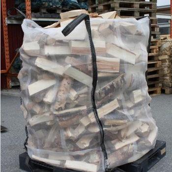Whole Mesh Firewood Bags Open Top Flat Bottom With 4 Loops