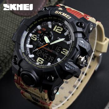 Digital watch wholesale price SKMEI 1155 waterproof hand clocks jam tangan  Camouflage green watches men sport 353962ae5a