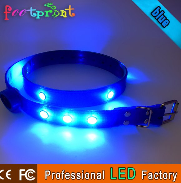 PU leather led light skinny belt band with buckle