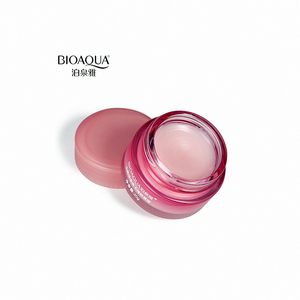 BIOAQUA Strawberry Lip Sleeping Mask Lips Balm Moisturizer Nourish Lip Plumper Enhancer Vitamin Skin Care Night Cream
