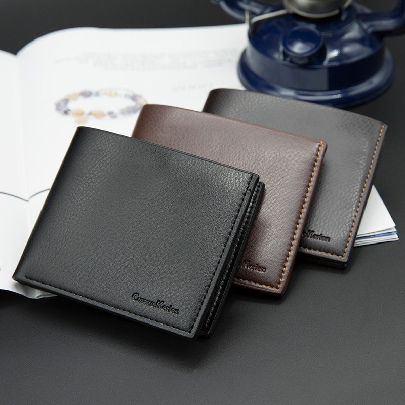 Top Fashion Men <strong>Wallets</strong> Leisure Business Solid Fold Short Money Clip Card Holder Classic Leather Men Clutch Bag Purse <strong>Wallet</strong>