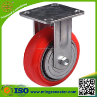 Polyurethane galvanized heavy duty fixed caster