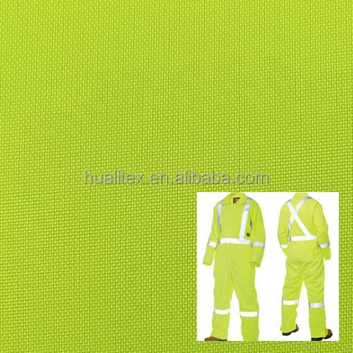 fluorescent high visibility 300D oxford fabric for coverall / workwear/ safty vest/uniform