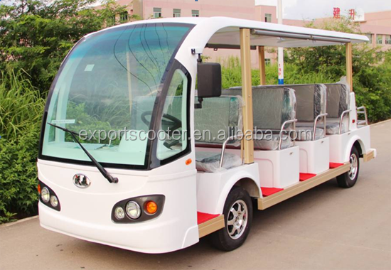 11 seats resort bus for passenger, electric shuttle car resort bus electric
