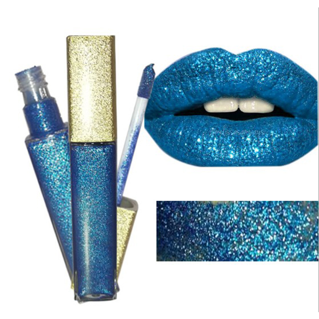 OEM makeup 7 colors long lasting glitter lip gloss without fading <strong>cosmetics</strong>