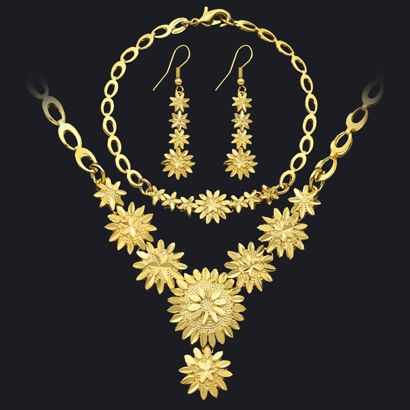 National Style Wedding Gold Ornaments Gift Ethiopian Girls Jewelry