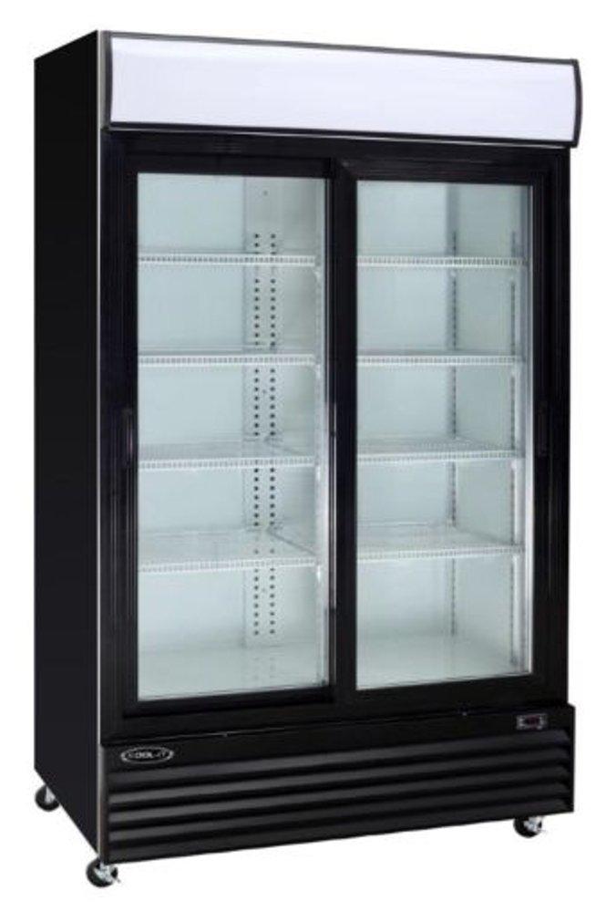 """Empura ESM-42 Double Door 52.3"""" Merchandiser Refrigerator with Sliding Glass doors and CFC free refrigerant"""