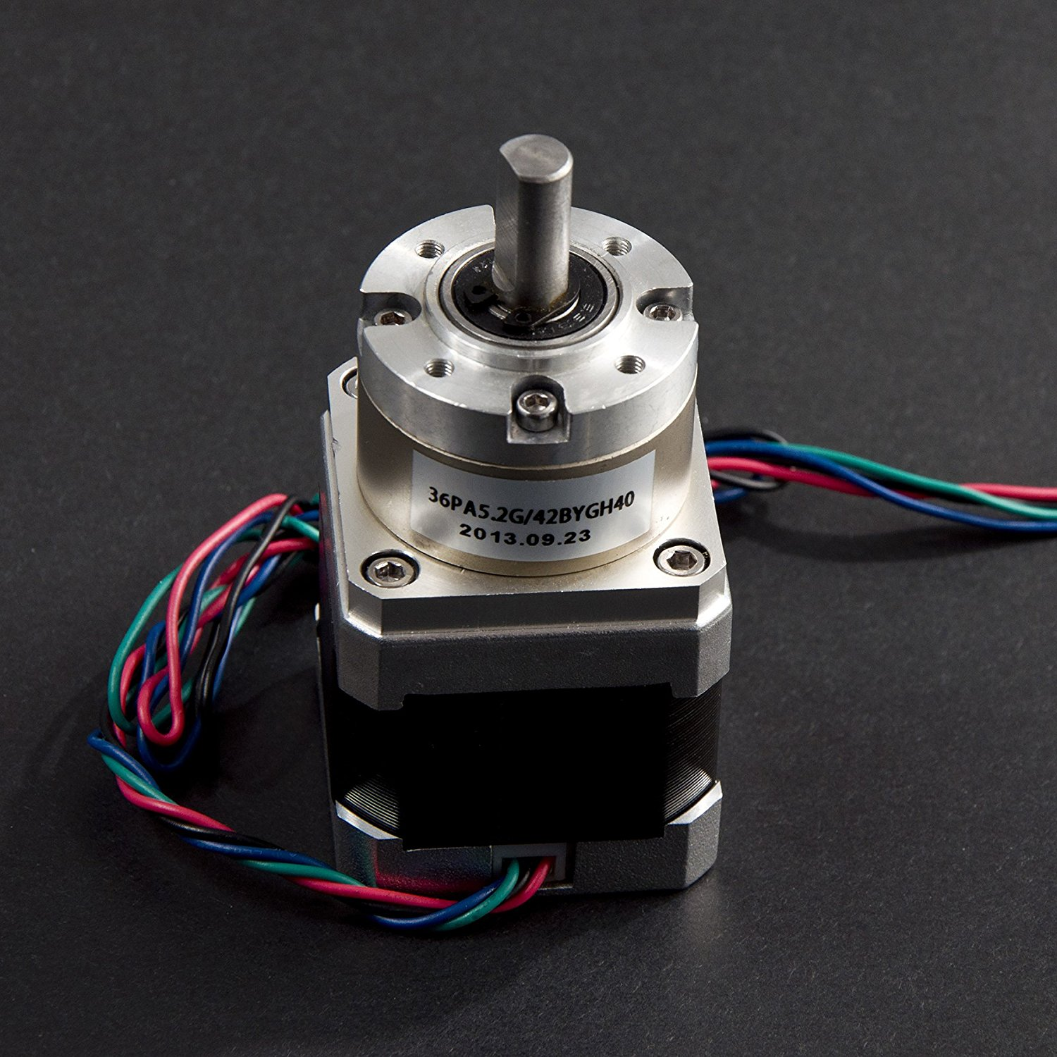 Angelelec DIY Open Sources Stepper Motor, 42 Stepper Motor (Planet Gear Stepper Motor), A Stepper Motor With a Gear BOX, Using Conventional 8MM Diameter D Output Shaft, Model 36PA5.2G/42BYG40-160-4A.