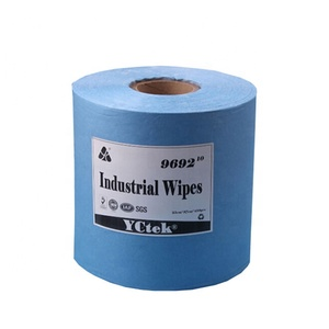 55% wood pulp +45% polyester Non Woven Fabric Industrial Cleaning Wipes