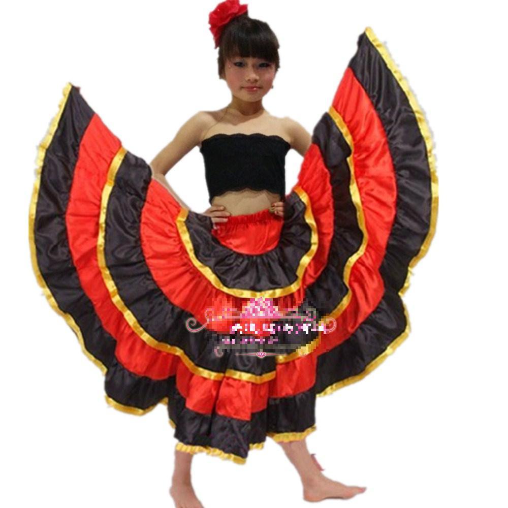 Buy New Kids Flamenco Dance Dress Girl Flamenco Dresses Spanish Paso