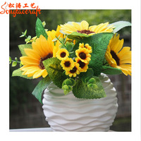 Decorative waterproof artificial flower sunflower wholesale