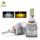 Amber Yellow Light Dual Color C6 H4 Led Headlight