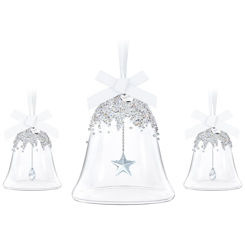 Swarovski Annual Edition 2016 Christmas Bell Ornament, 3-Piece Set