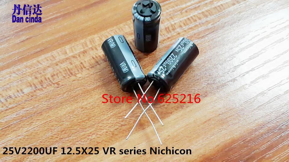 Nichicon Capacitors 25v2200uf 12 5x25 Vr Series 85 Degrees