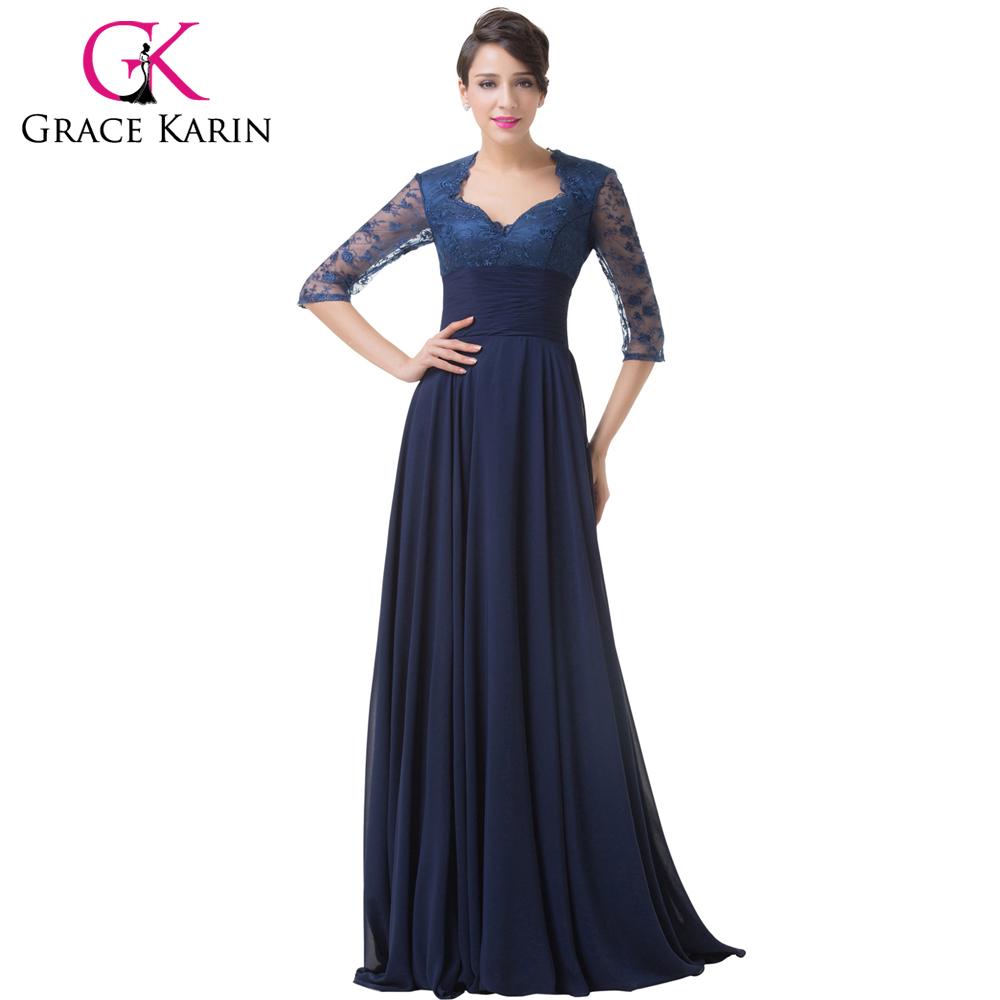 Popular Navy Chiffon Gown-Buy Cheap Navy Chiffon Gown lots ...