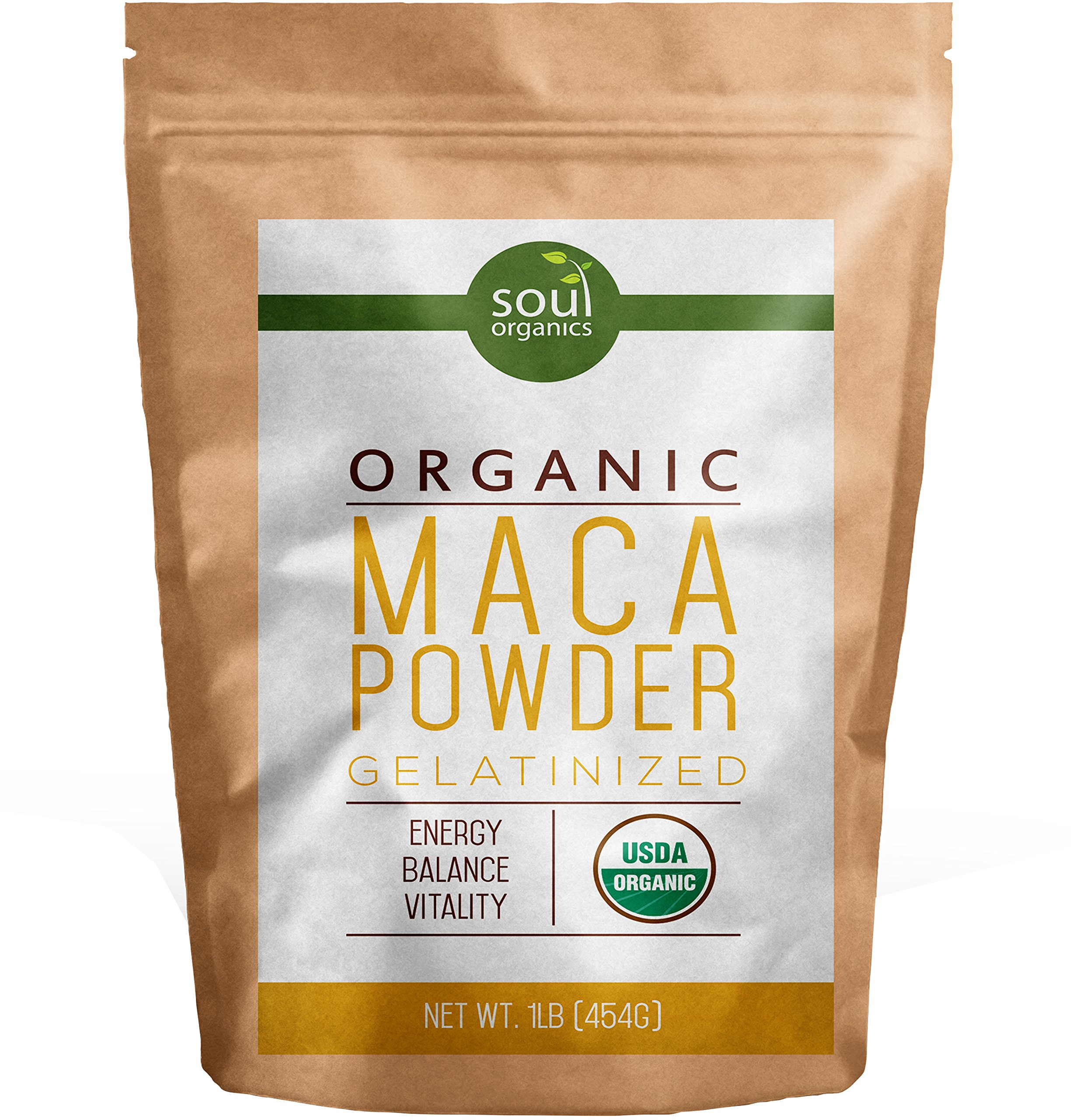 Organic Maca Powder From Maca Root - Purest Premium Vegan Superfood, Gelatinized from Raw for Fertility, Hormone Balance, Energy and Vitality for Women and Men - Yellow Maca with Black, Red Blend 1 lb