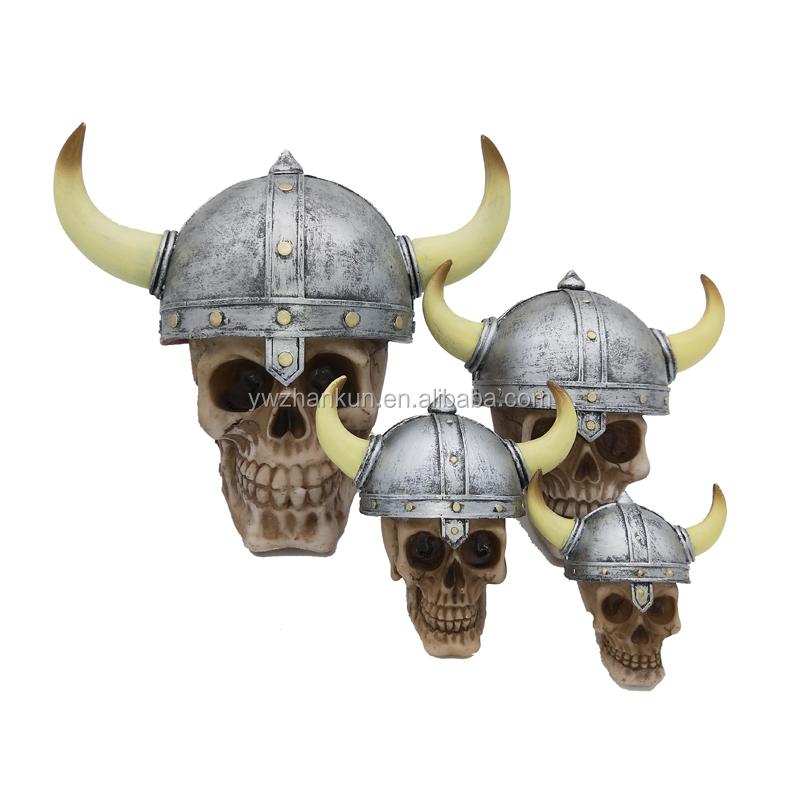 Halloween-Harz-Schädel-Sammlung-Kugelhaar-Punkschädel-Skeletthauptverzierung