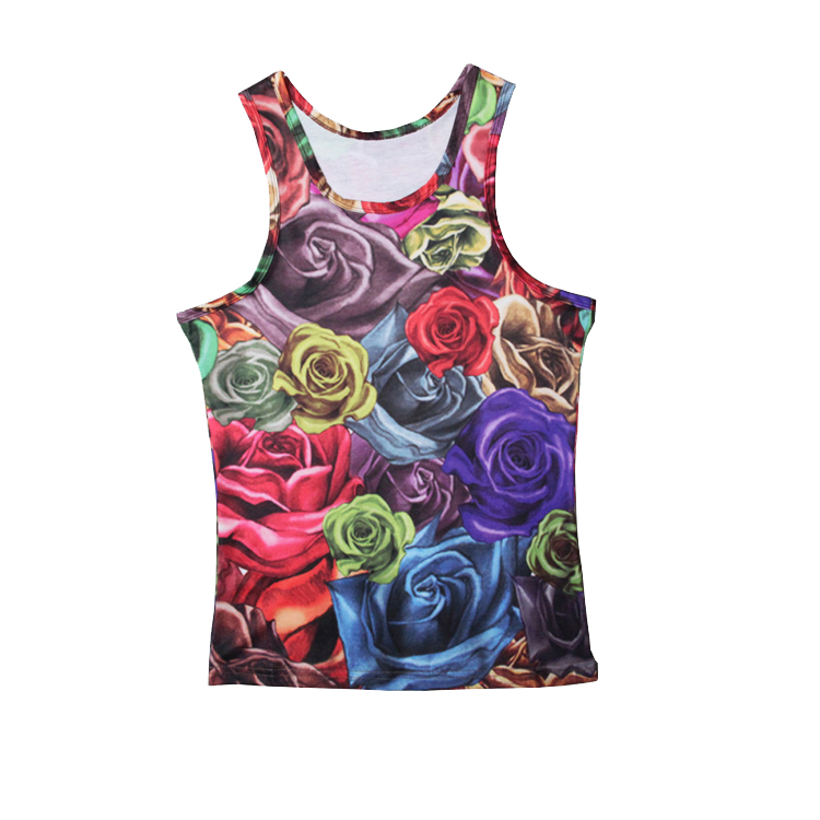 100% polyester single jersey quick dry mens colorful vest