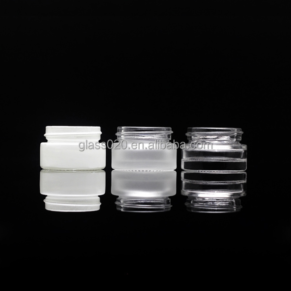 5g pressed glass cosmetic jar with aluminum cap