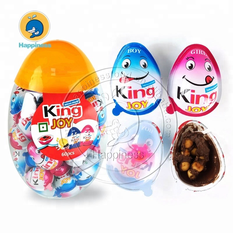 halal small king joy surprise chocolate egg in jar