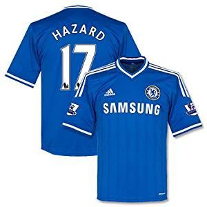 sale retailer 790bd ecda1 Chelsea Home Hazard Jersey + Premier League Patch Pair 2013 / 2014