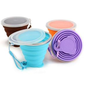 Foldable Travel Mug Silicone Travel Folding Cup Telescopic Outdoor Folded Cups Collapsible Water Beer Mug Cup
