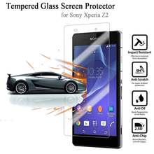 Super Clear Tempered Glass Film for Sony Xperia Z2 D6502 6503 Ultra-thin 2.5D 100% Brand new Premium Screen Protector L50 L50W