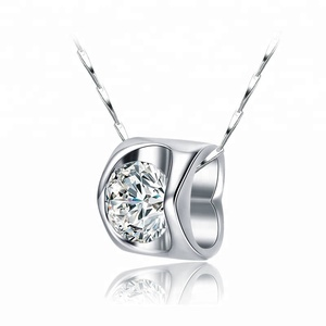 925 Sterling Silver With CZ Stone Zircon Pendant Fashion Wholesale 925 Sun Silver Jewelry
