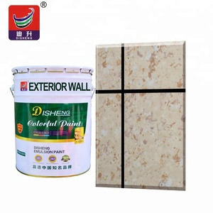 Eco-friendly waterbased best odorless scrub resistant liquid granite texture paint in exterior decorative building coating