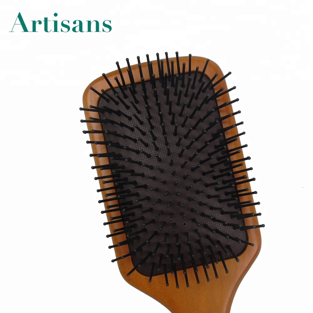 wholesale Natural massage wood hair brush and comb