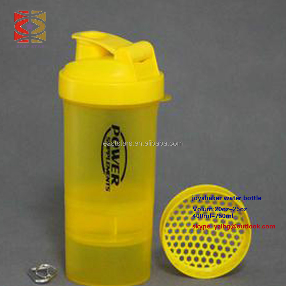 China manufacturer plastic joyshaker water bottle