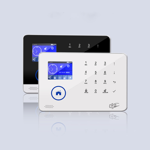 PSTN RFID TFT screen temperature humidity detecting gsm alarm system z-wave siren smart home smartphones