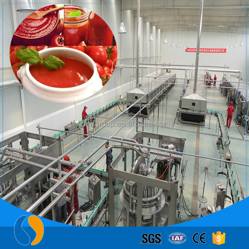 Professional manufacture tomato sauce making processing machine full production line