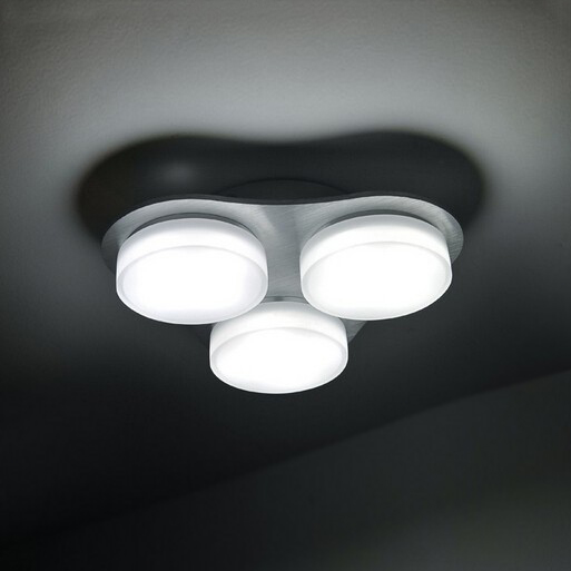 led 3 t tes ronde plafonnier chambre luminaires modernes plafond clairage pour salon 15 w. Black Bedroom Furniture Sets. Home Design Ideas