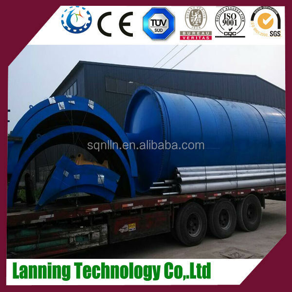 hot sales site Lanning Brand pyrolysis plant waste rubber used diesel oil recyling plant with CE,ISO,BV