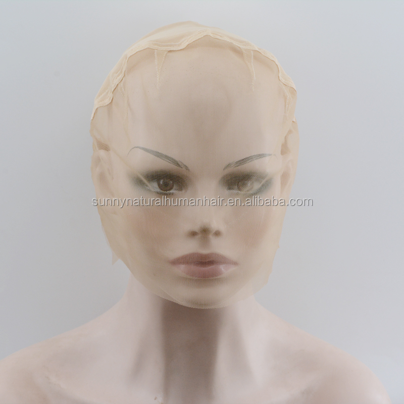 full lace wig caps with strap transparent swiss lace cap for braiding wig 4pcs/lot