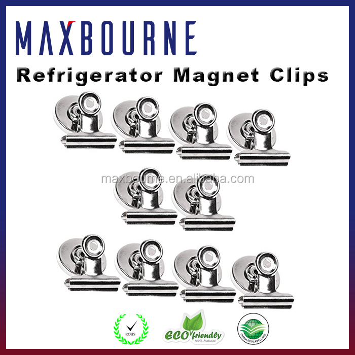 Hot selling magnetic spring clips clamp/ magnet for refrigerator / magnet hook clips